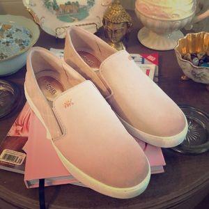 Michael Kors leather size 6.5 blush slip on shoes